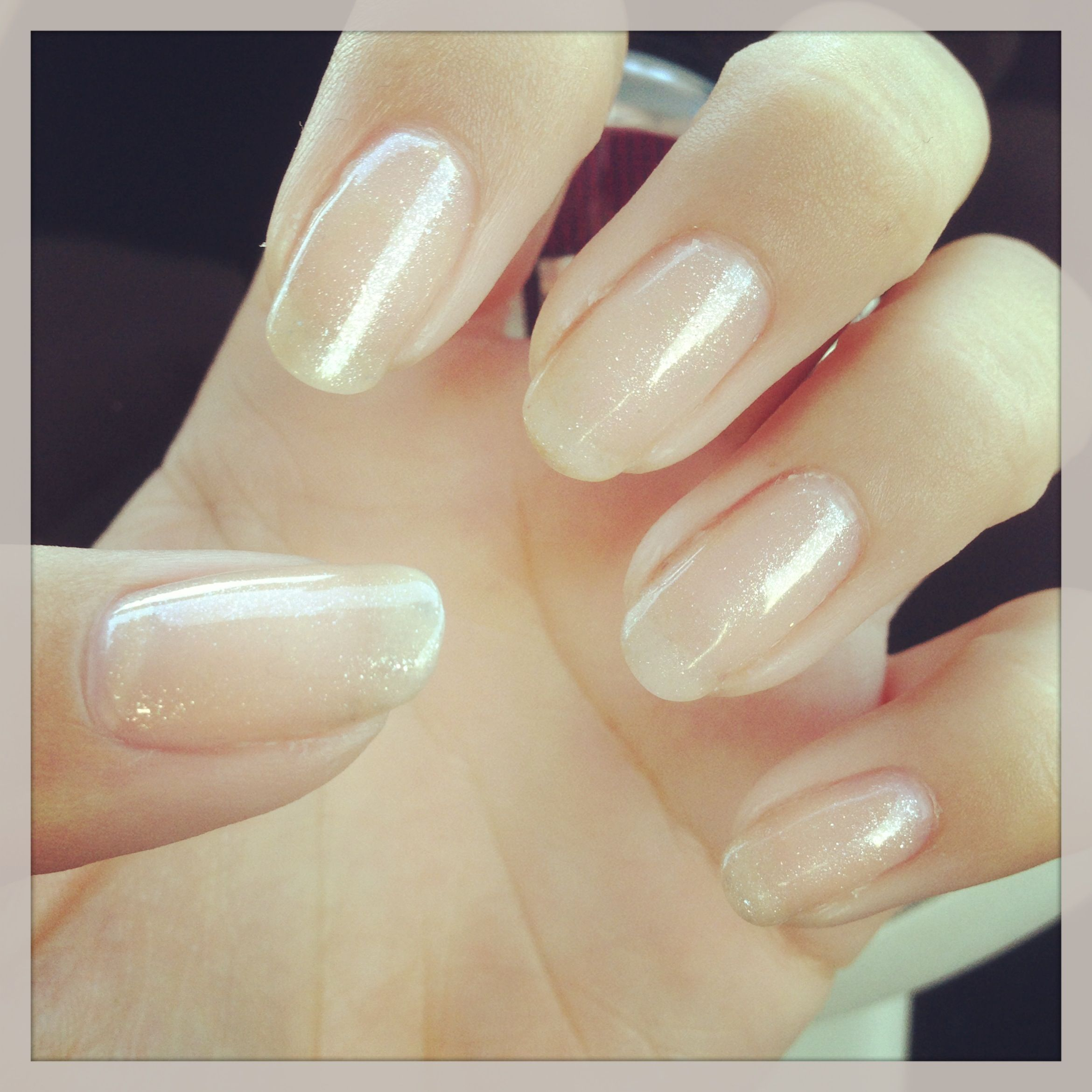 Pretty Natural Nails Nails Natural Beauty Nail Harmony Gelish Desery Sands Manicure Gelish Manicure Natural Nails