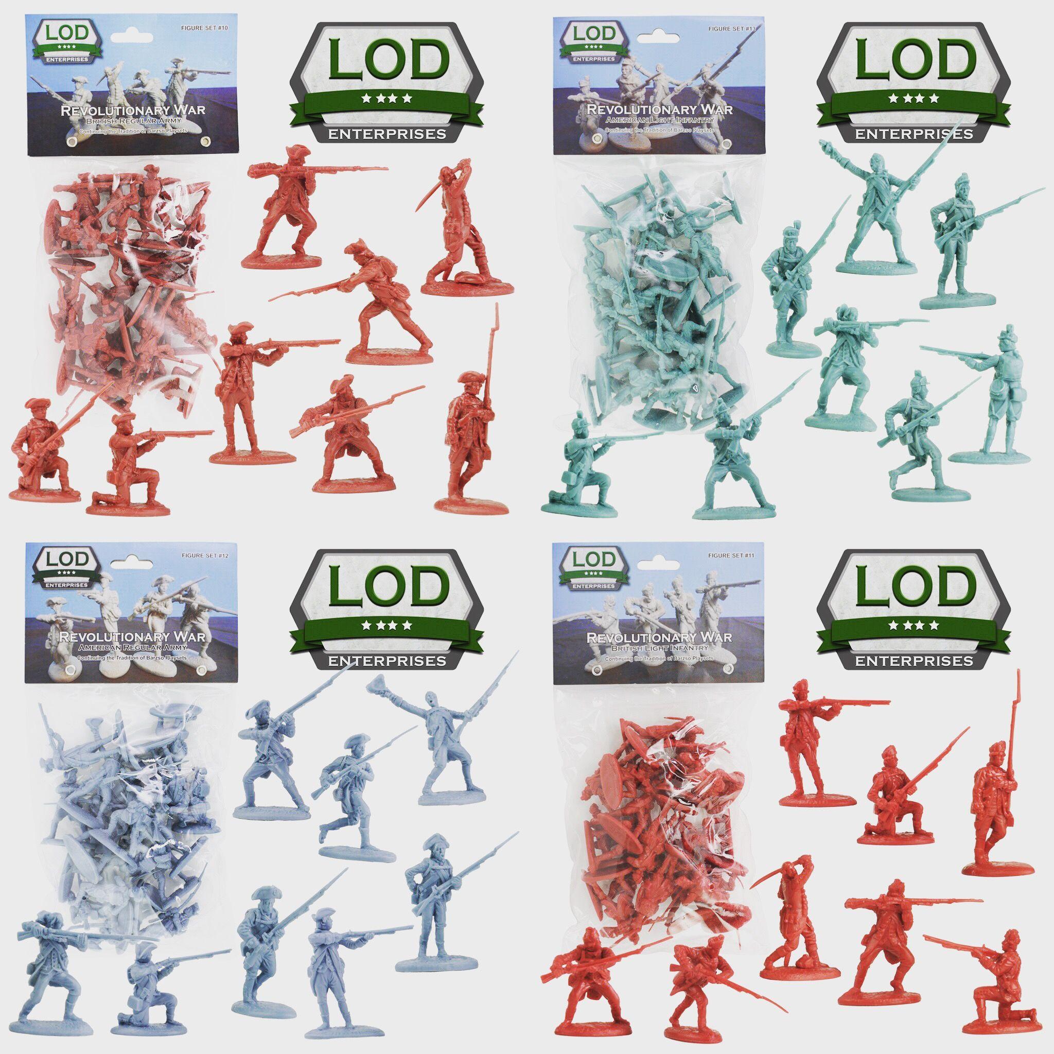 BARZSO LOD American Revolution British Regular Army 16 Plastic Figures FREE SHIP