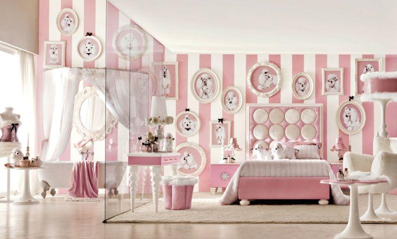 Traumhaftes Mädchen Kinderzimmer Komplett In Weiß Rosa