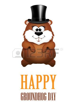 Happy groundhog day greeting cards illustration groundhog happy groundhog day greeting cards illustration m4hsunfo Choice Image