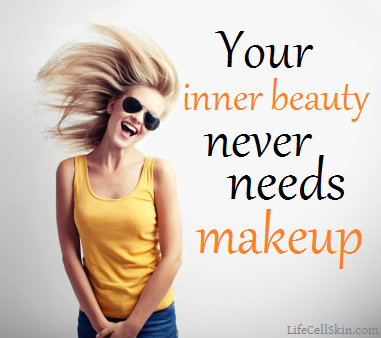 your inner beauty never needs makeup quotes