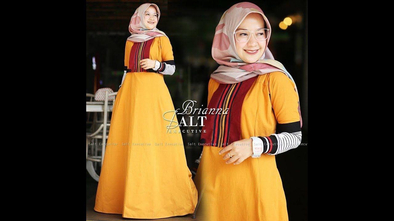 Gamis Simple Cantik Untuk Hijaber Kekinian 2018 Dress Hijab