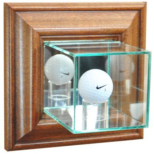 Golf Balls Ideas Golf Ball Wall Mounted Glass Display Case With Walnut Frame Check This A Golf Ball Display Case Baseball Display Case Golf Ball Displays