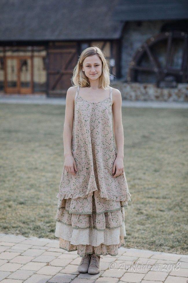 Les Ours Kleid MARINETTE Cotton Fleur Verte SS18 | französische Mode ...