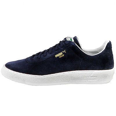 Puma Star Allover Suede Mens 359393-01 Peacoat Blue Shoes Sneakers Size 9 fd887ad79