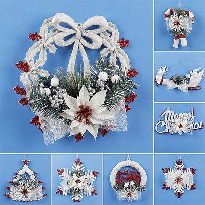 Christmas Tree Snowflake Ornament Wall Door Hanging Decor Home Xmas