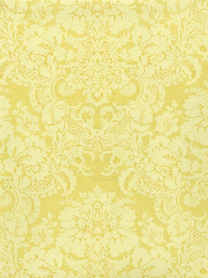 A Sunny Yellow Damask Wallpaper From The Book Small Treasures At AmericanBlinds Wallcovering
