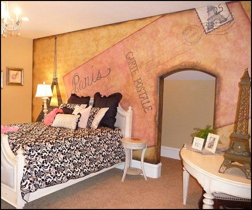 Paris Themed Bedroom Ideas   Paris Style Decorating Ideas   Paris Themed  Bedding   Paris Style Pink Poodles Bedroom Decorating   French Theme Paris  ...