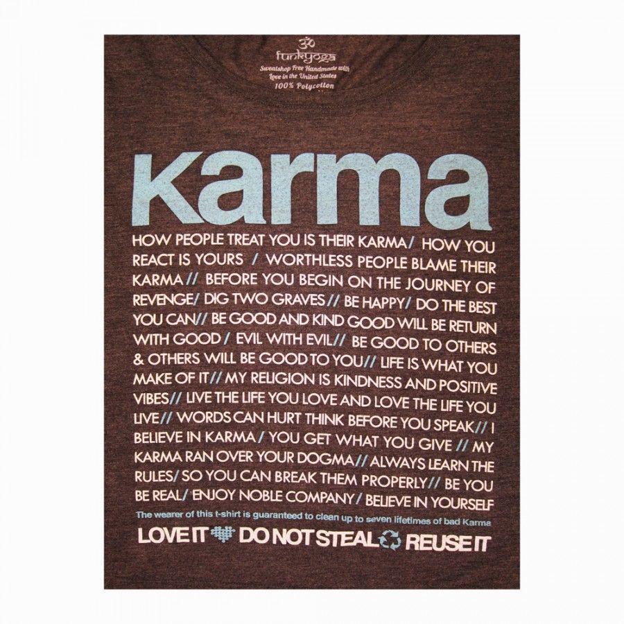 Bad Karma Quotes Karma Quotes And Pic  Karma Quotes Boxy Crop Tee Dark Grey