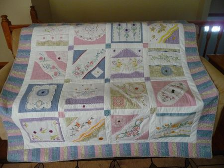 Using those family heirlooms in a quilt.