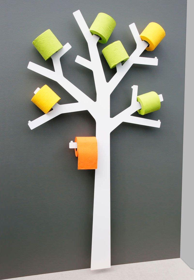 On adore cet arbre à papier toilette...  plus communément appelé le Pqtier ! Création française de Presse Citron