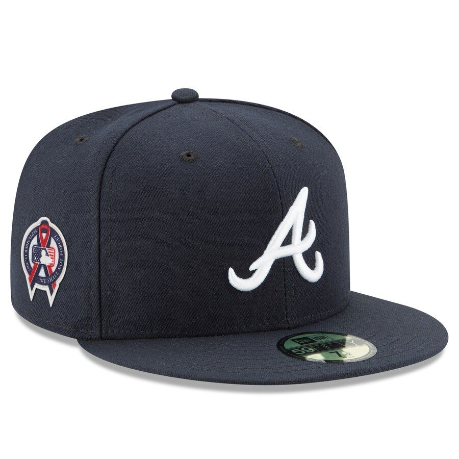 Men S Atlanta Braves New Era Navy 9 11 Remembrance Sidepatch 59fifty Fitted Hat Your Price 39 99 Atlanta Braves Jackie Robinson Day Atlanta