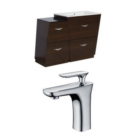 American Imaginations Vee 43.5'' Single Plywood-Melamine Bathroom Vanity Set