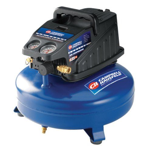 Campbell Hausfeld Fp2080 4 Gallon Portable Air Compressor This Portable Powerful Compressor Delivers With Air To Spare Includes 25 Ft Recoil Hose 4 Gallon
