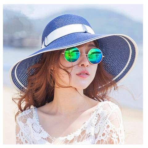 ea906a4dd0912 Elica cappello da sole per le donne di paglia della spiaggia di ...