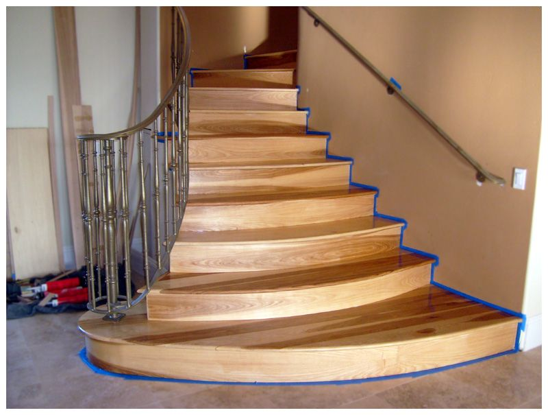 Elegant Hickory Stair Treads Finish1nov08