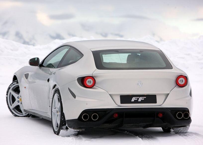 2012 Ferrari Ff Silver Rear Side View Jegs Cartruck