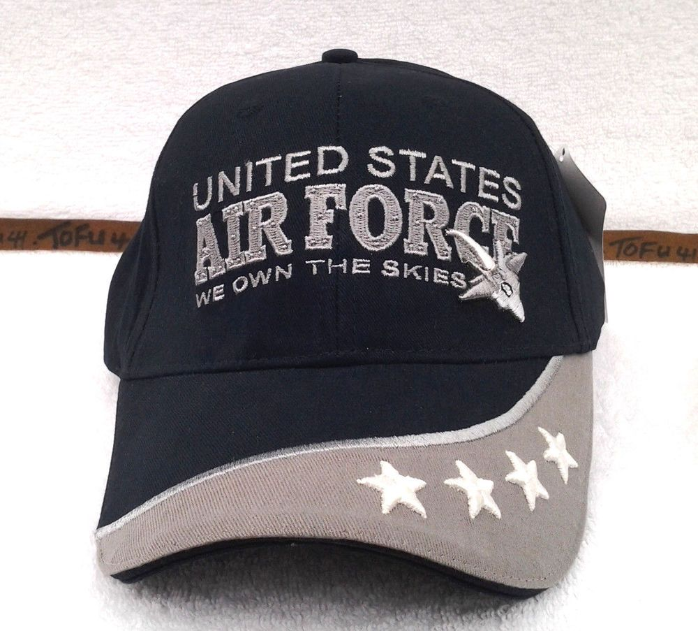 US AIR FORCE RETIRED (BLACK) Military Veteran Hat 370 RAEB ... 0f64e08748b7