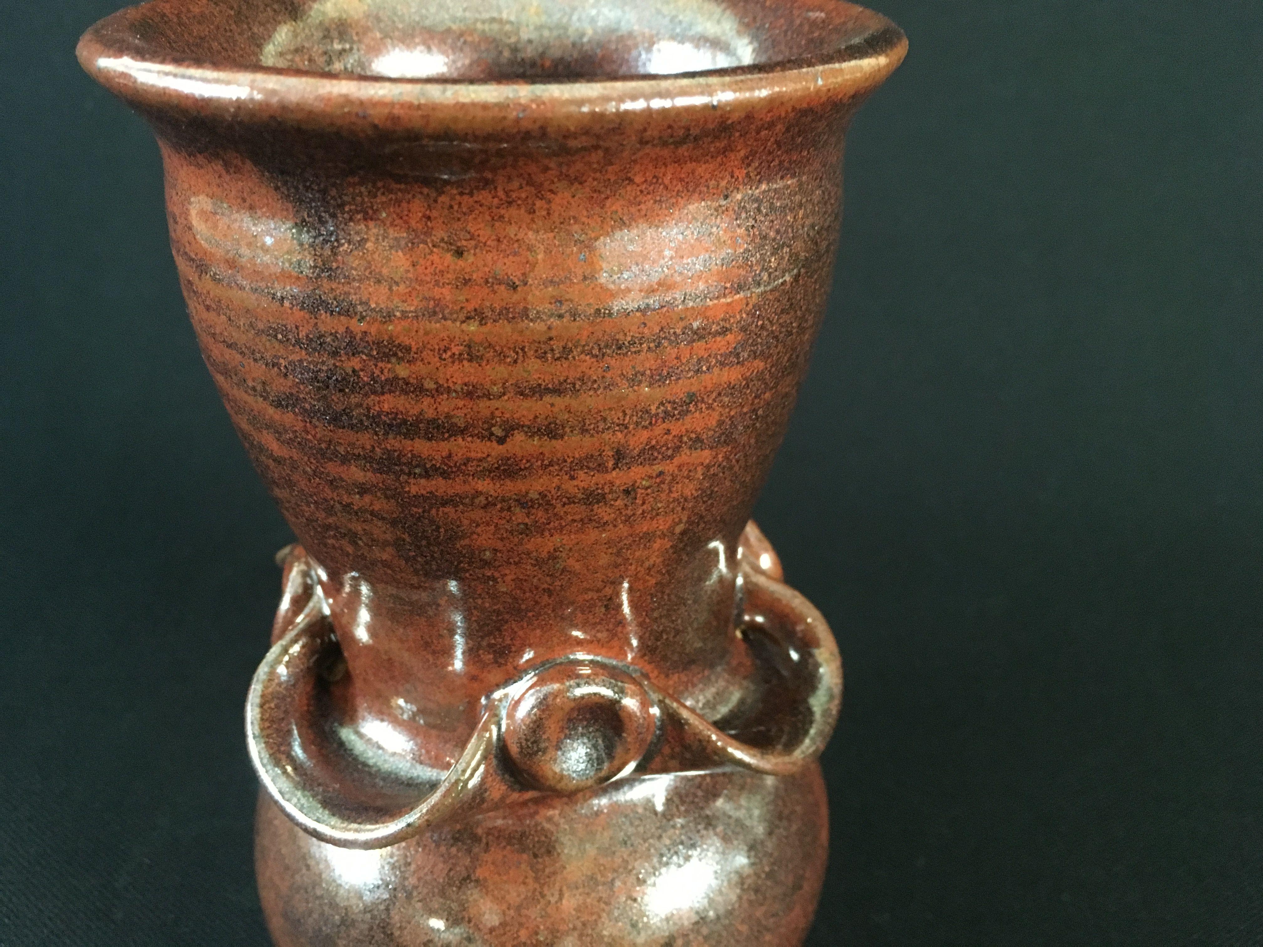 Small vase cone 10 Ohata Kaki glaze
