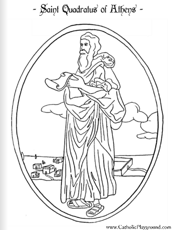 coloring pages saints catholic names | Saint Quadratus of Athens Catholic coloring page Feast day ...