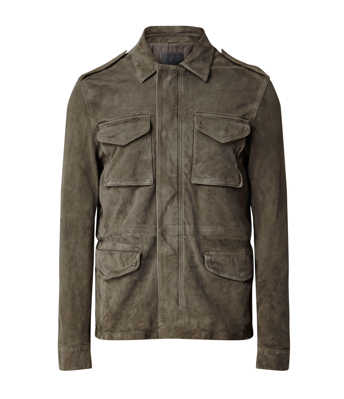 Mens Crew Leather Jacket allsaints springsummer15 mens