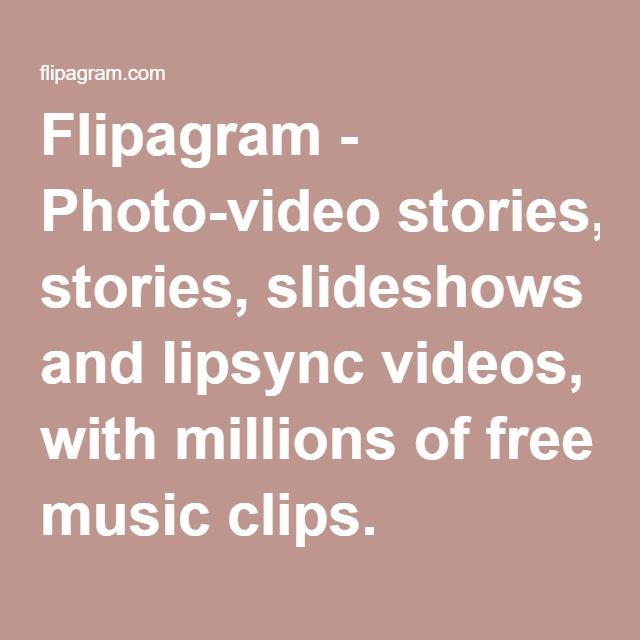 Flipagram - Photo-video stories, slideshows and lipsync videos, with millions of free music clips.