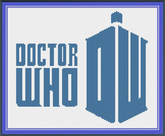Doctor Who inspired Cross Stitch Pattern