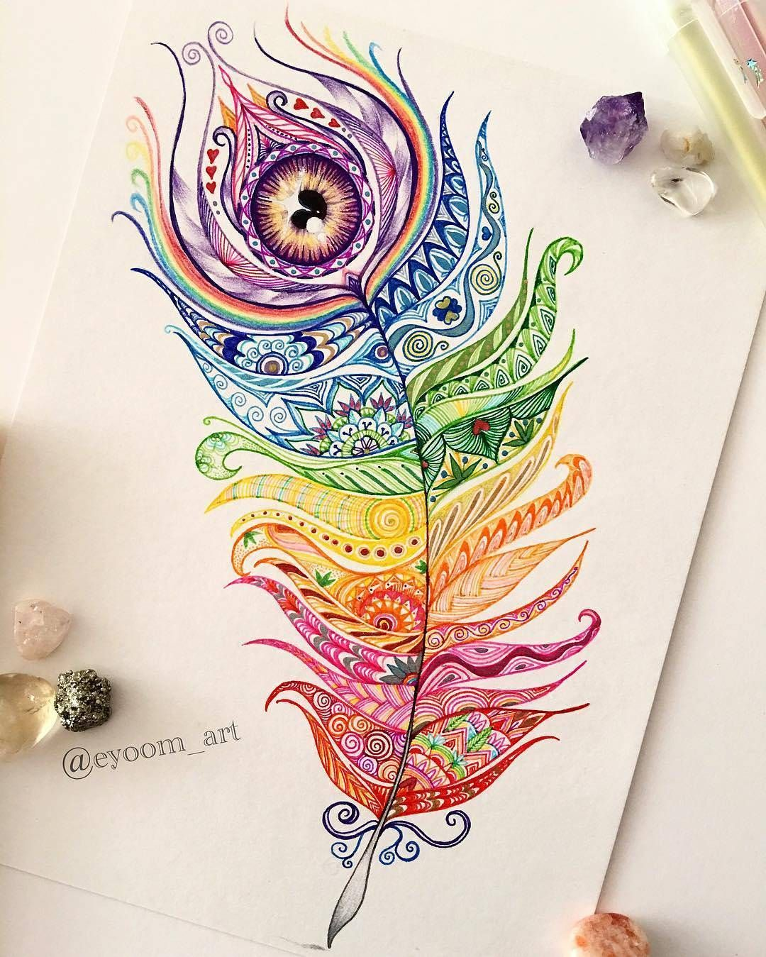 Instagram Feather Drawing Feather Art Feather Tattoos