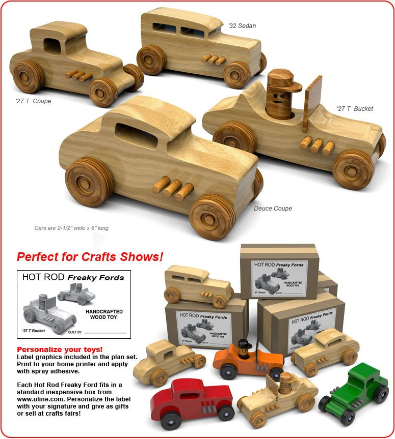Hot Rod Freaky Fords Wood Toy Plans Pdf Download Juguetes De