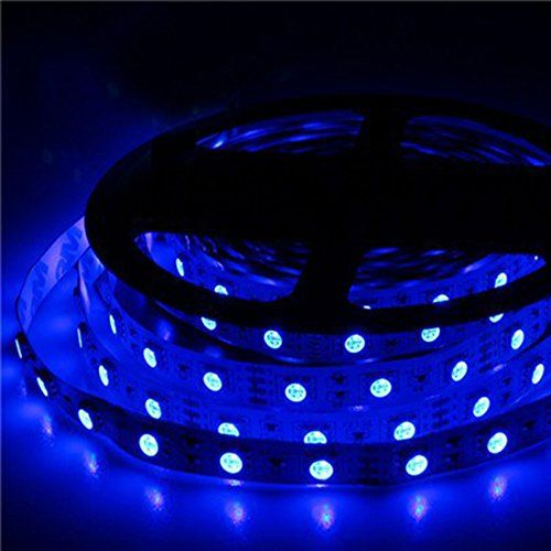 12v Flexible Blue Led Strip Lights 300 Units 5050 Leds Non Waterproof Led Tape Lights Pack Of 16 4ft 5m Home Living Home Improvement Ideas And Inspiratio Led Tape Lighting Strip