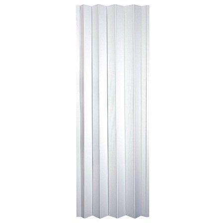 HomeStyles Plaza Vinyl Accordion Door, 36 inch x 80 inch, Frost White