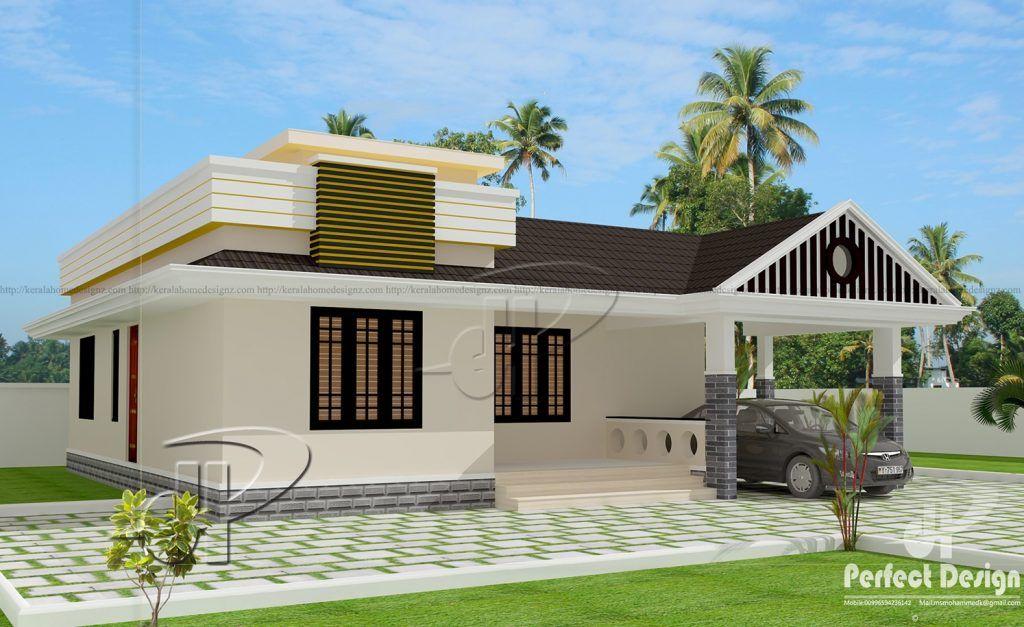 A Spellbinding Two Bedroom Single Floor Residence In 96 Sq Meters Floor Area With Roof Deck Offers A R Single Floor House Design Solar House Roof Architecture