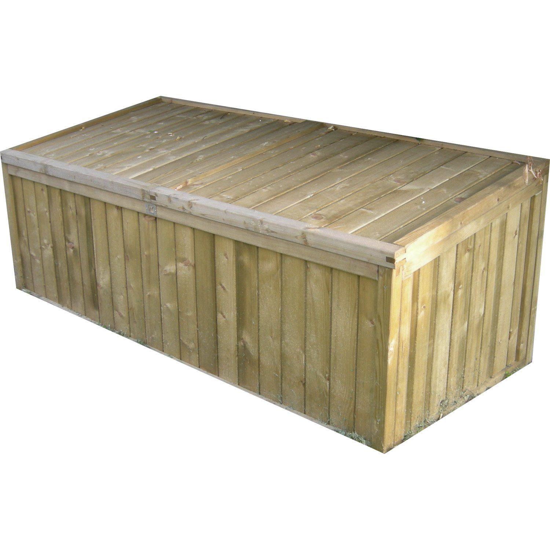 Coffre de jardin en bois NATERIAL, 0.13 m³   Leroy Merlin ...
