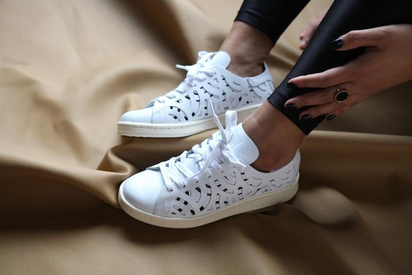 detailed look f915e eee89 £65 Adidas Originals Stan Smith Cutout White Leather Sneakers