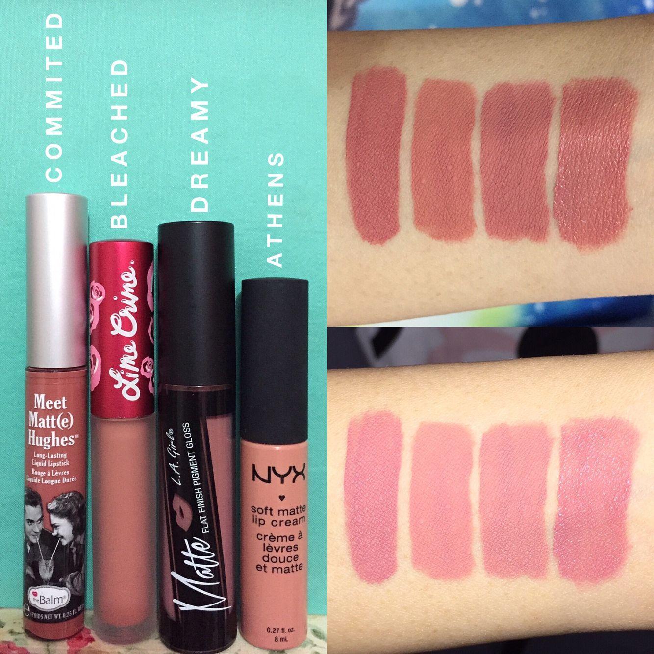Dupe Nude Pinks (L-R): theBalm Meet Matt(e) Hughes liquid lipstick