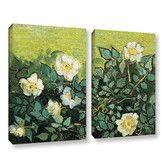 Found it at Wayfair - Wild Roses by Vincent Van Gogh 2 Piece Painting Print Gallery Wrapped on Canvas Set