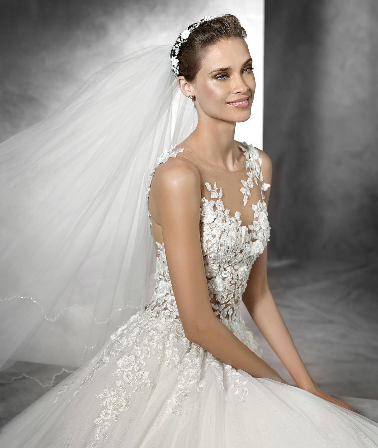 Pronovias Taciana Sexy Brautkleid Im Prinzessin Stil Brautkleid