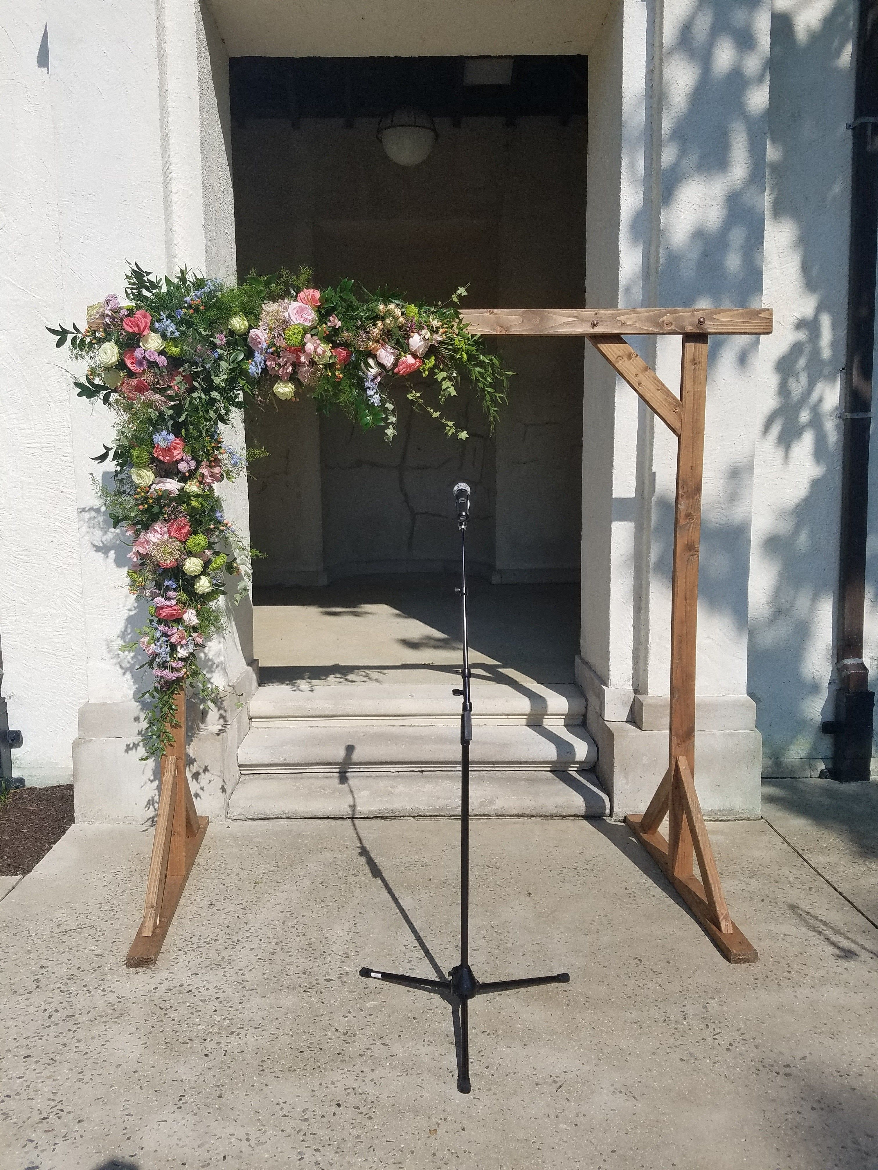 A beautifully decorated rustic backdrop by buttercup for lily u will