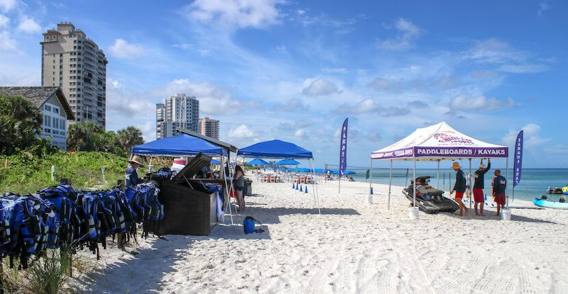 Naples Beach Water Sports Fun Activities Waverunner Als And Tours Half Full Hour Are Available On Vanderbilt Florida