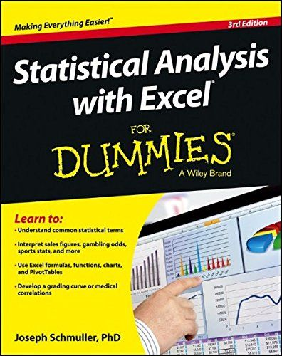 Statistical Analysis with Excel For Dummies Nerd Pinterest