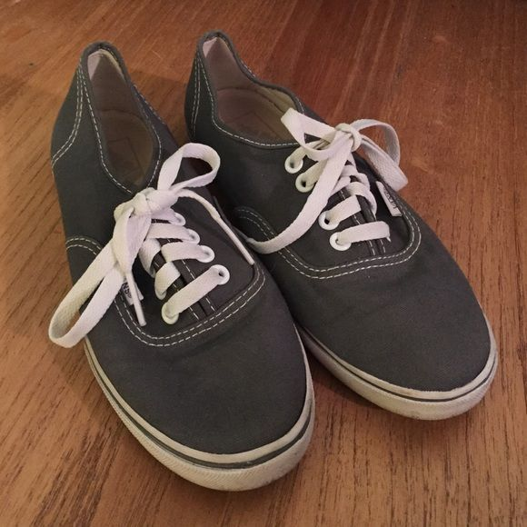 Gray Vans Women's 6.5 amazing used condition!! only wore 3 times!! a few marks but easily gotten out! just s bit too small for me, awesome shoes! Vans Shoes Sneakers