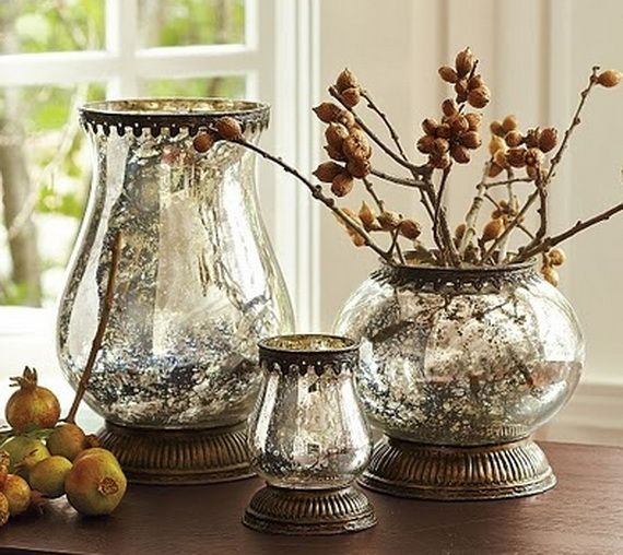 Beautiful Mercury Glass Decorations For Your Coming Holidays