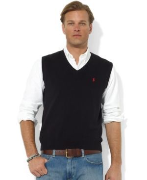 Polo Ralph Lauren Men's Sweater Vest, Core Solid Sweater Vest ...