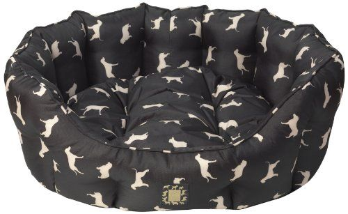House Of Paws Water Resistant Silhouette Print Oval Dog Bed Medium Dog Bed Oval Dog Bed Dog Bed Large