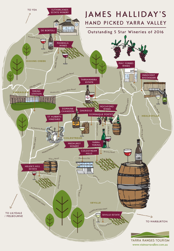 Yarra Valley Wineries Map yarra valley winery map   Google Search | Wine 101 in 2019 | Yarra