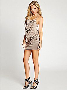 Sleeveless Strappy T-Back Dress   GUESS.com