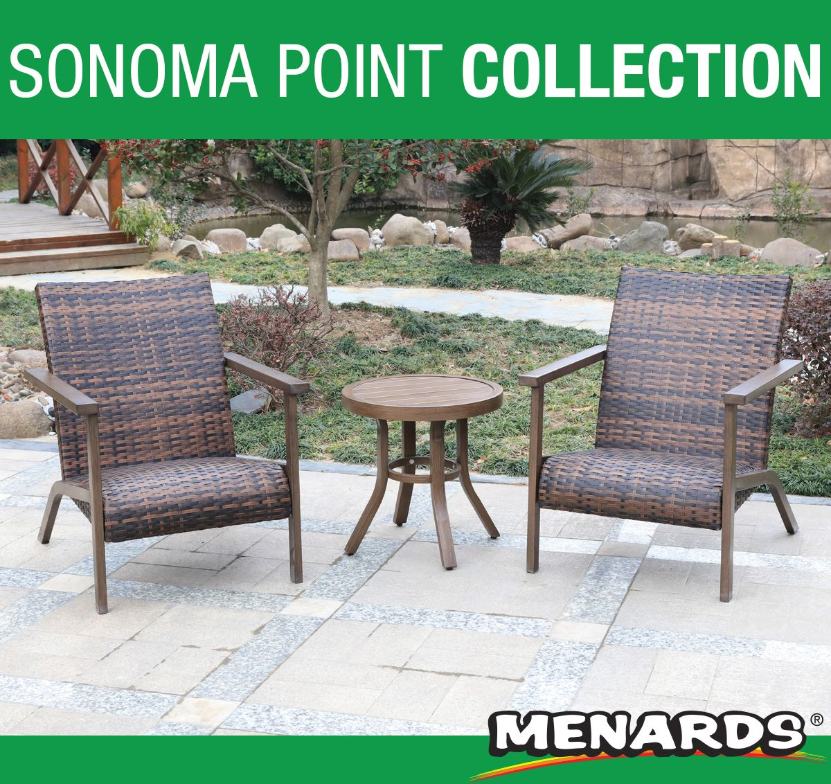 This Sonoma Point 3 Piece Collection Will Be A Delightful Addition To Your Outdoor Space Patio Furniture Collection Outdoor Furniture Sets Backyard Creations