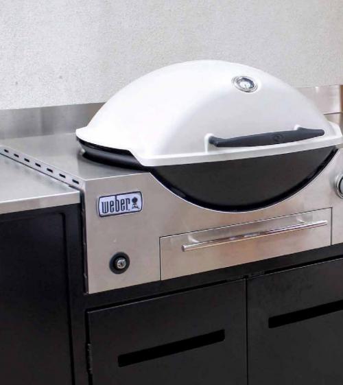 Weber Family Q Q3600 Built In Bbq Outdoor Living Turfrey Built In Bbq Outdoor Kitchen Design Outdoor Bbq Kitchen