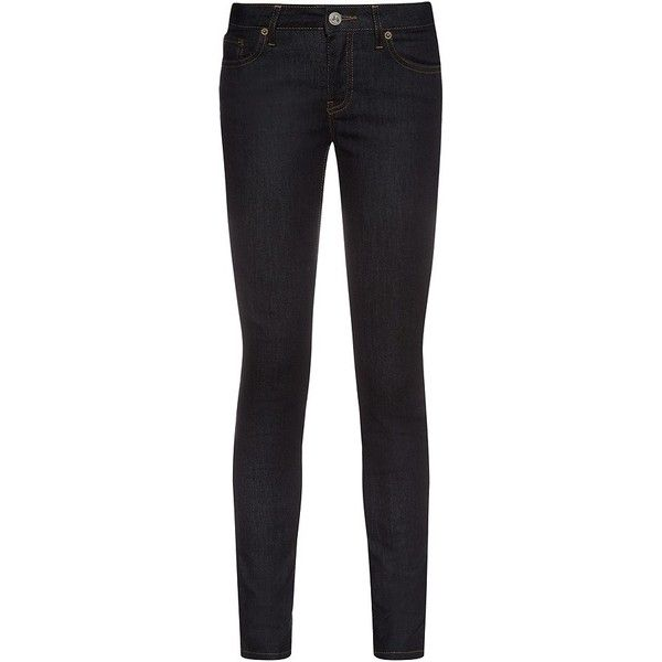 Red Valentino Bow Detail Skinny Jeans (€275) ❤ liked on Polyvore featuring jeans, 5 pocket jeans, reversible jeans, bow jeans, skinny jeans and red valentino