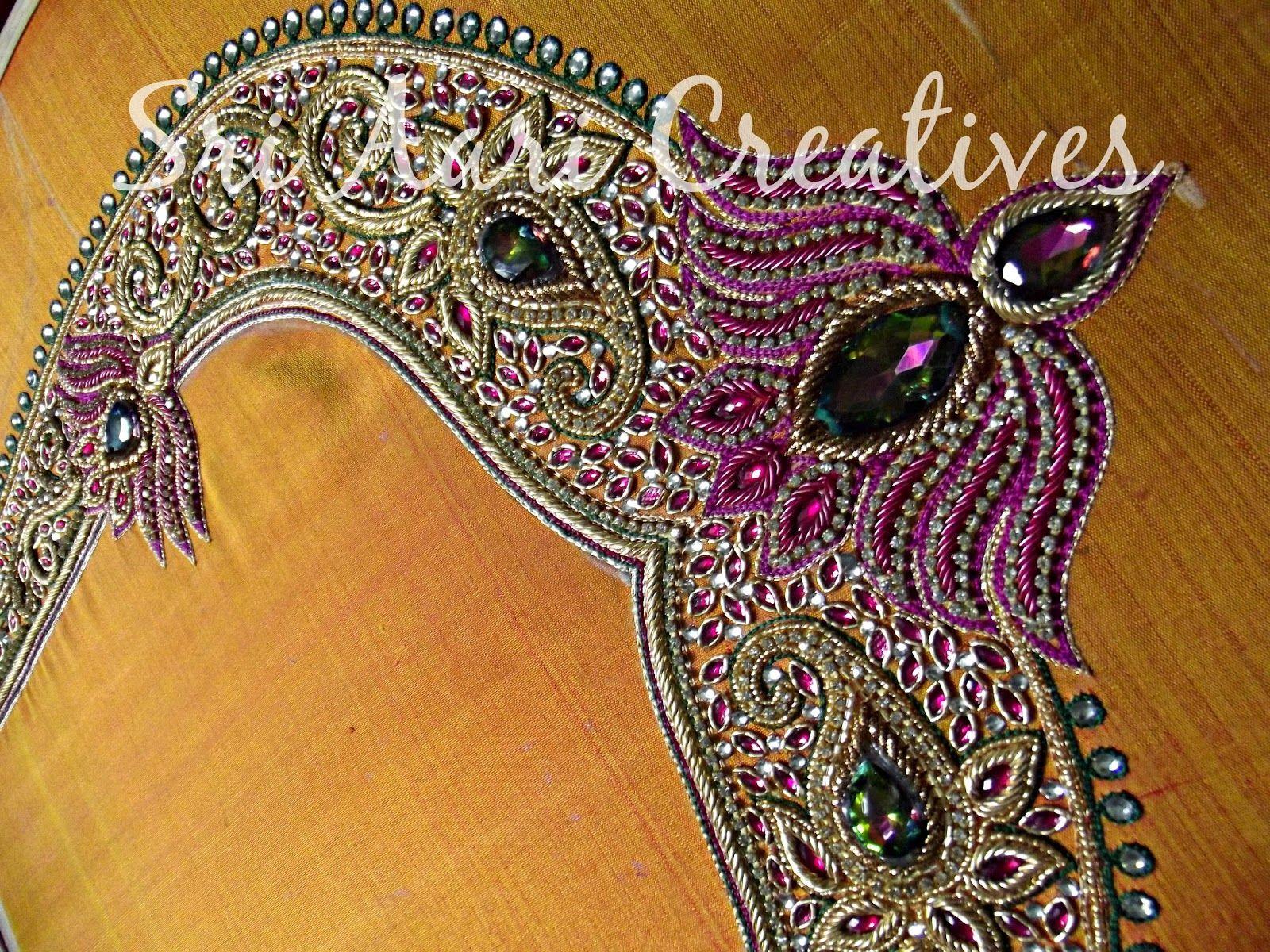 Bridal aari work designs google search embroidery